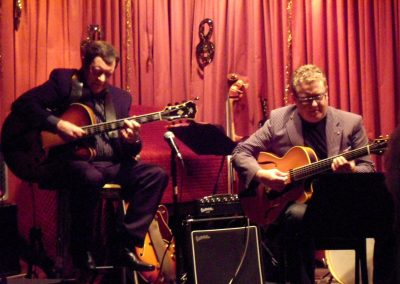 Trefor Owen playing a duo with Martin Taylor at NWJS venue at British Legion, Llay, Wrexam.
