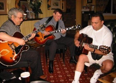 Trefor Owen jamming with Bireli Lagrene and Jimmy Bruno