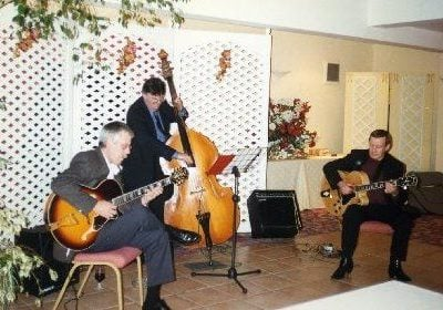 Trefor Owen with Louis Stewart and Dave Turner (bass).
