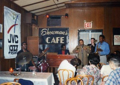 Trefor Owen with the Selino Clark Quintet, at the Showman's Cafe, Harlem, New York.